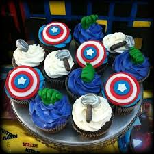 The Avengers Cupcakes Cupcakes Superhero Party Avenger
