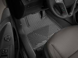 2017 hyundai santa fe all weather car mats all season flexible rubber floor mats weathertech
