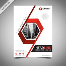 White Brochure Red And White Business Brochure Design Vector Free Download