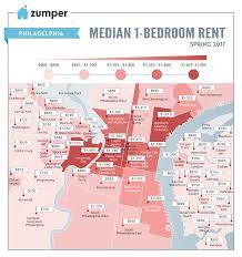 philadelphia neighborhood rent prices mapped this spring