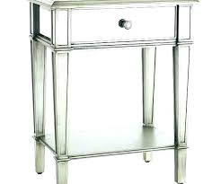 mirrored bedside table tables small medium size of white pier one nightstand mirror side round black legs argos