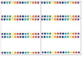 Labels With Border Watercolour Dot Border Blank Labels Not Editable