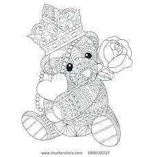Teddy Bear With Heart Coloring Pages To Free Download Jokingart
