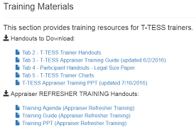 Trainers How To Access The Training Resources T Tess