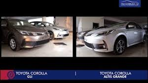 toyota corolla xli 2018. unique corolla toyota corolla 2018  face lifted gli vs altis grande  for toyota corolla xli
