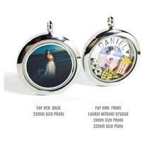 locket size photos couple locket keychain necklace set ztyleco