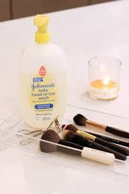 baby shoo why and how to clean makeup brushes first run your brush bristles under lukewarm