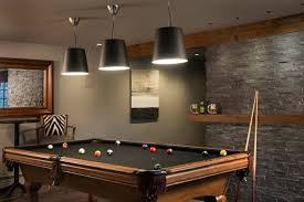 basement pool table. Enviable Games Room With Pool Table Lit By Three Black Cone Shaped Pendants. Basement B