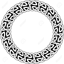 Celtic Pattern Enchanting Round Frame Of Celtic Pattern Pattern For Scandinavian Or Celtic