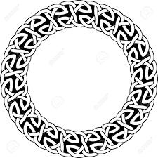 Celtic Pattern Enchanting Round Frame Of Celtic Pattern Pattern For Scandinavian Or Celtic