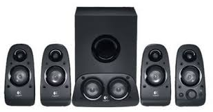 speakers for tv. surround hdtv sound 5 piece black speakers for tv p