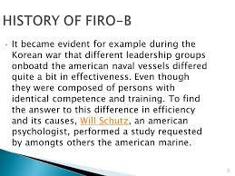 Firo B Firo B Fundamental Interpersonal Relationship Orientation