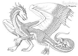 Awesome Dragon Coloring Pages For Adults 94 On Free Coloring Book