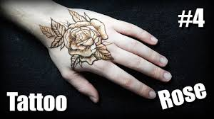 тату роза на кисти 4 временная татуировка хной роза
