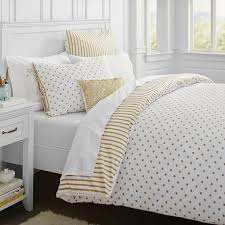 the emily meritt metallic dottie duvet cover sham