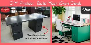 diy friday build your own file cabinet desk mcaleer s office inside with plans 6