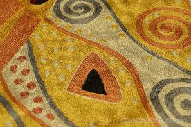 klimt 4ft x 6ft art nouveau gold silk abstract rug tapestry hand art nouveau area rugs
