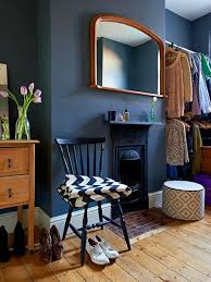 Credit: Ingrid Rasmussen The dressing room  formerly a second bedroom  is  painted an