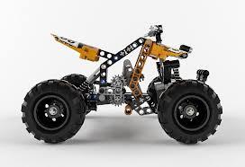 3d Model Lego Technic Quad Bike Cgtrader