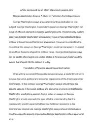Essay About Orge Washington Outline Research Paper Conclusion Junior