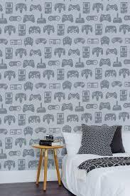 How To Choose Wallpaper Design Grey Retro Gamer Wallpaper Gaming Design Muralswallpaper