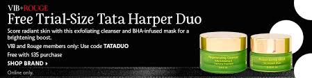 vib rouge free trial size tata harper duo score radiant skin with