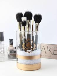 How to Make a Gold Makeup Brush Holder