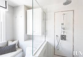 shower next to window seat