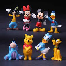 8 Cái/bộ Đồ Chơi Mickey Minnie Mouse Vịt Donald Sao Diêm Vương Goofy Nhựa  PVC Đồ Chơi Mô Hình Cho Bé Đồ Chơi Quà Tặng Giáng Sinh|Mô Hìn… trong 2021