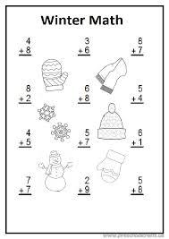 Winter math worksheet preschool and kindergarten - Preschool Crafts