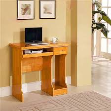 simple small wood desktop computer desk home for children to learn 90c oak with drawers
