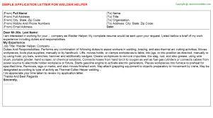 Welder Helper Job Description Welder Helper Job Application Letters