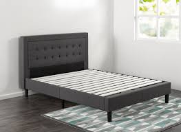 zinus dachelle upholstered on tufted premium platform bed multiple sizes com