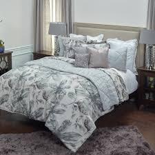 ivory gray fl pattern 3 piece king bed set