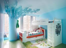 tree wall painting teen girl room. Blue Teenage Girl Room Wall Paint White Bed Cupboard With Interior Design Tree Painting Teen T