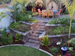 image of triyae retaining wall backyard slope various design throughout landscaping ideas for slopes attractive