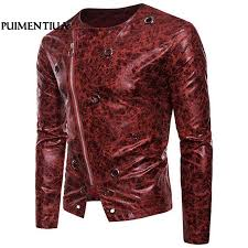 puimentiua autumn leather jackets with zipper men casual moto coats for male outerwear asymmetry jaqueta masculina black coat mens men outerwear from