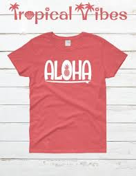 Hang Ten Size Chart Womens Aloha T Shirt Pineapple Shirt Surf T Shirt