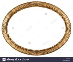 antique oval mirror frame. Empire Gold Oval Antique Picture Frame Cutout Art Craft - Stock Image Mirror