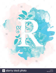 Calligraphy Background Design Watercolor Letter Calligraphy On Watercolor Background