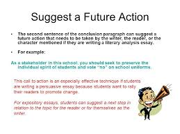 5 suggest a future action examples of conclusion paragraphs for persuasive essays