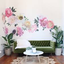 pastel garden flowers wall decals epic flower wall decals for nursery