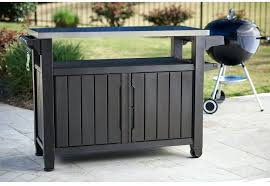 grill prep table and outdoor grill serving food prep station table cart patio storage deck box grill prep table