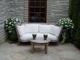 white garden furniture. garden settee with white cushions furniture