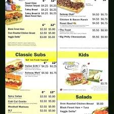Online Printable Subway Menu Livedesignpro Co