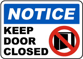 Image result for caution sign on outside door