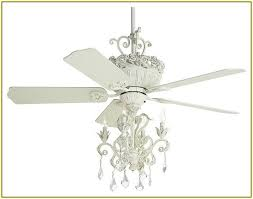 endearing white ceiling fan with crystals at antique chandelier home