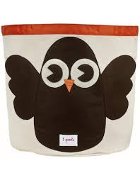 sprouts storage bin owl  vancouver's best baby  kids store