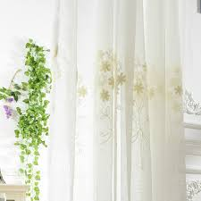 white embroidery sheer patterned curtains loading zoom