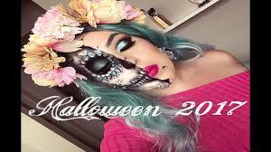easy half sugar skull makeup look w makeup you already have 2017 migdalia maquillaje
